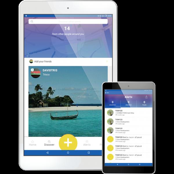 App op tablet en smartphone