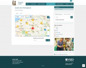 Interactieve kaart Bobath website